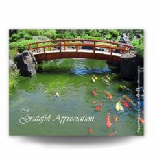 Ornamental Bridge Acknowledgement Card