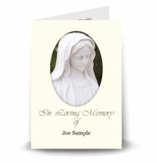 Our Lady Memorial Card