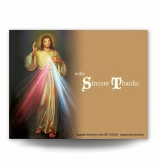 Divine Mercy Acknowledgement Card