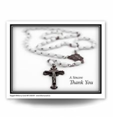 The Rosary Acknowledgement Card