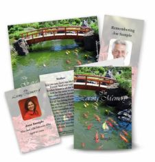 Ornamental Bridge Collection Memorial Card Range