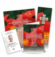 Celtic Cross Collection Memorial Card Range