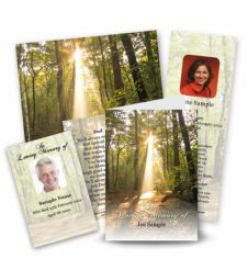 Forest Collection Memorial Card Range