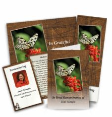 The Butterfly Collection Memorial Card Range