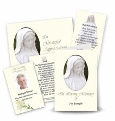 Our Lady Collection Memorial Card Range