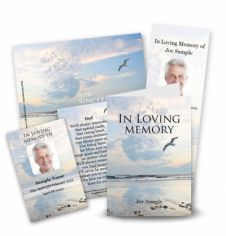 Seascape Collection Memorial Card Range