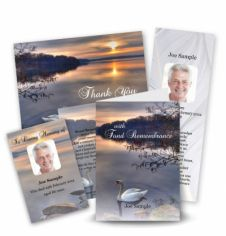The Swan Collection Memorial Card Range