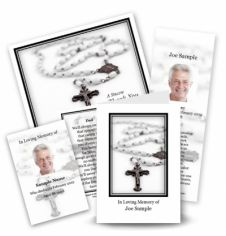 The Rosary Collection Memorial Card Range